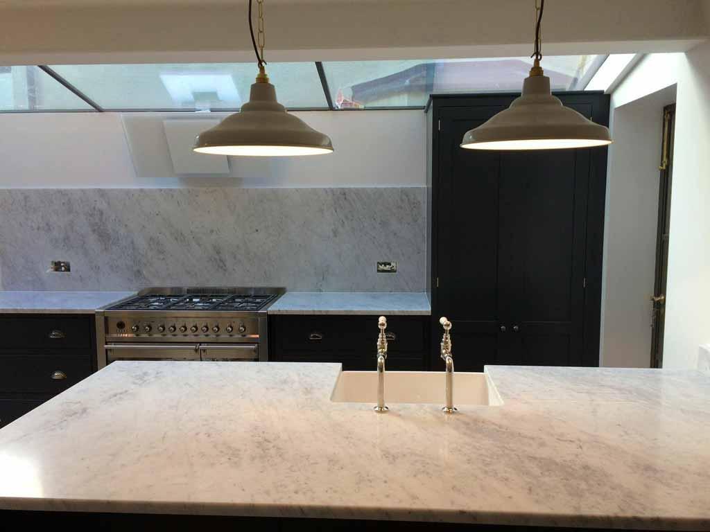 Chichester Granite - Calacatta arabescato marble worktop