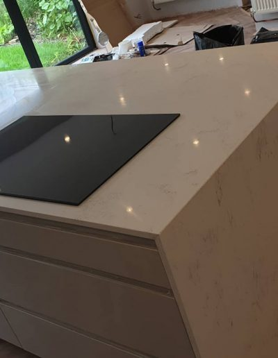 Kashmir quartz kitchen island worktop