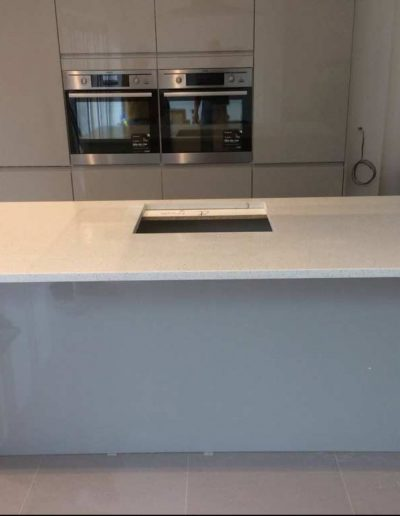 White Carrara Quartz Kitchen Worktop