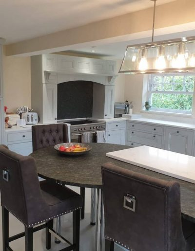 Chichester Granite - granite and quartz combination worktops in kitchen