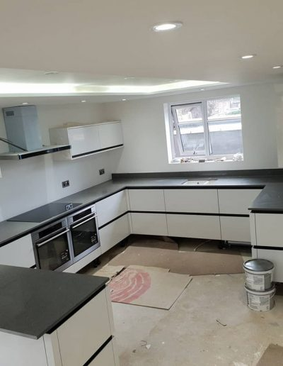 Chichester granite - grey silver specks granite kitchen worktop
