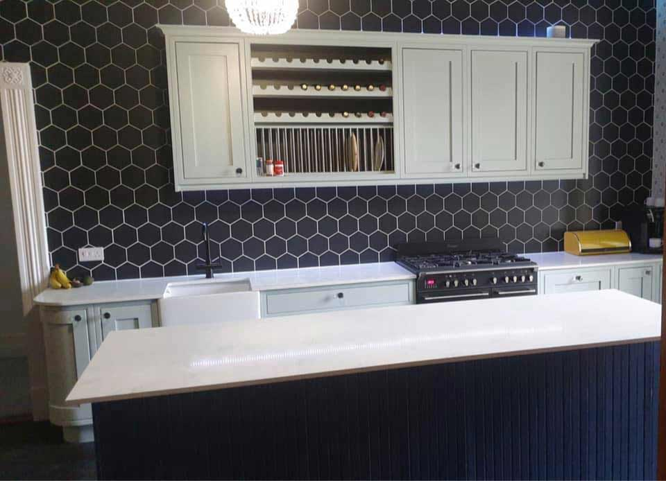 chichester granite - granite kitchenchichester granite - kitchen with white granite worktop