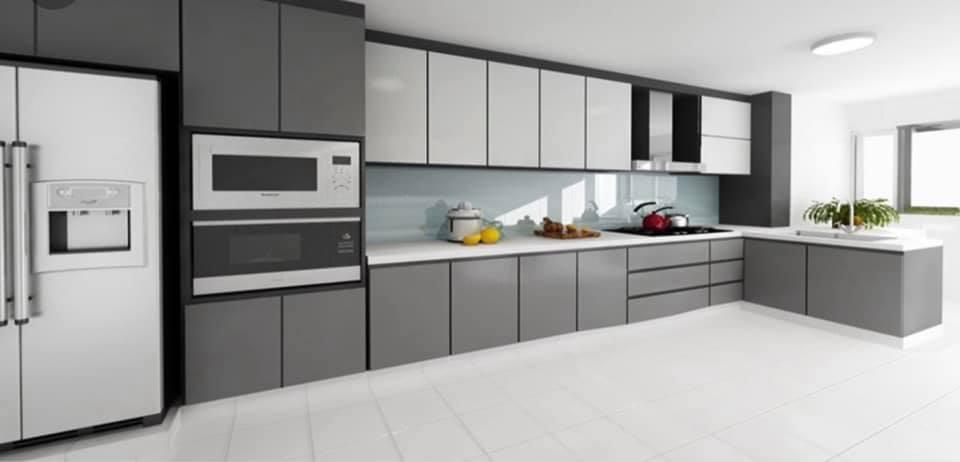 chichester granite - quartz kitchen - kitchen with white quartz worktops