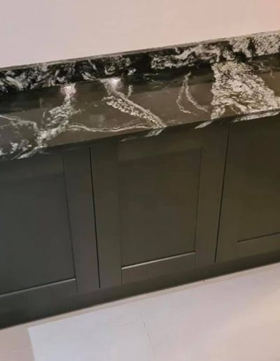 Black Forest Granite worktop on Sideboard